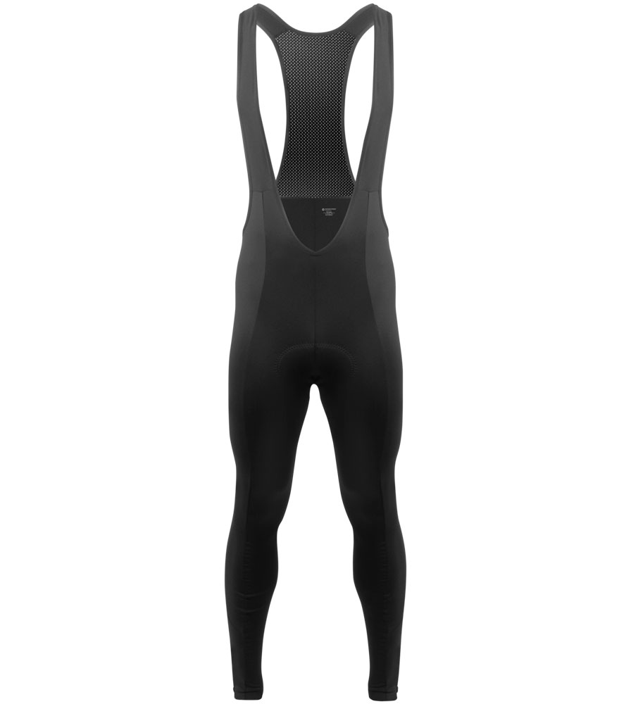 Aero Tech Men's Bib Tights - Thermal Stretch Fleece PADDED for Cycling