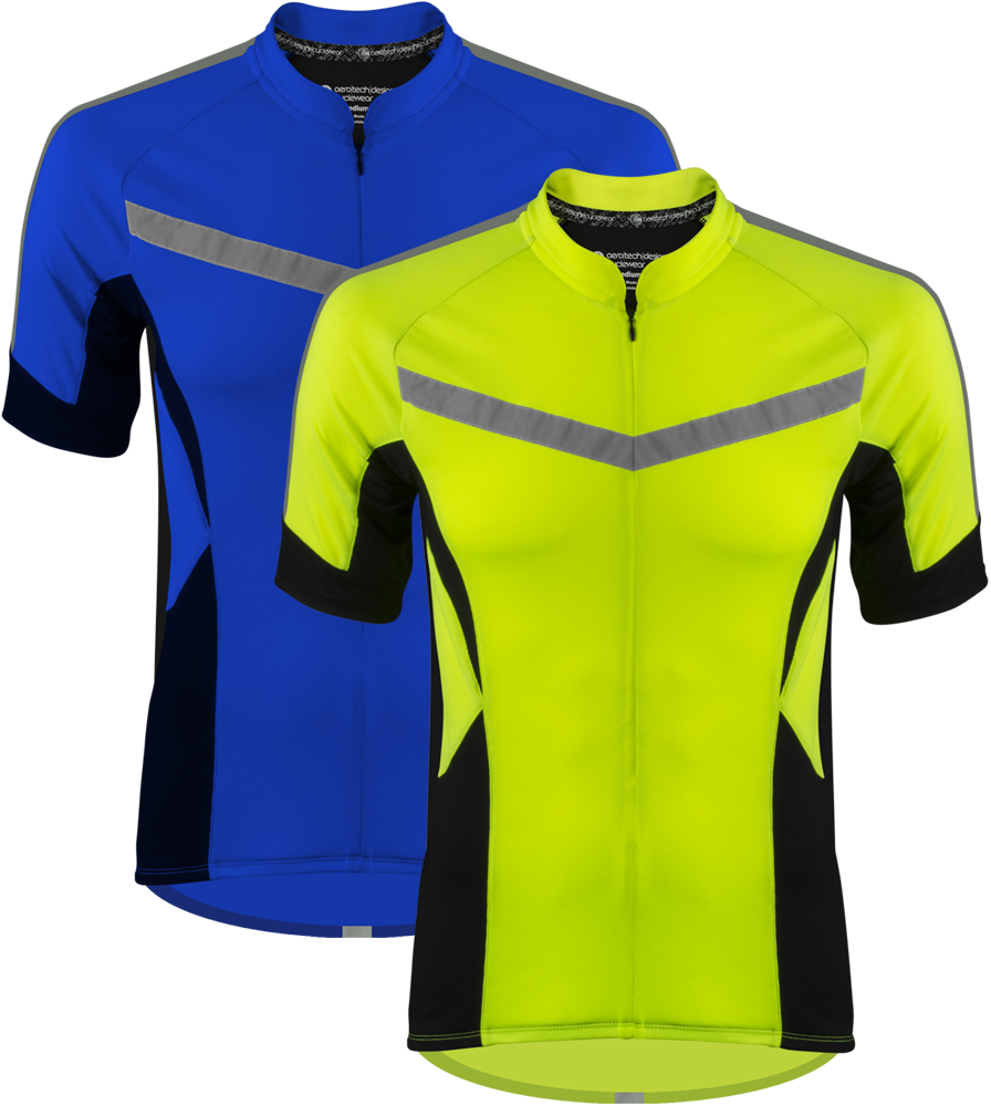 Aero Tech Men's Pace Cycling Jersey - 360 Degree Reflective and High Vis