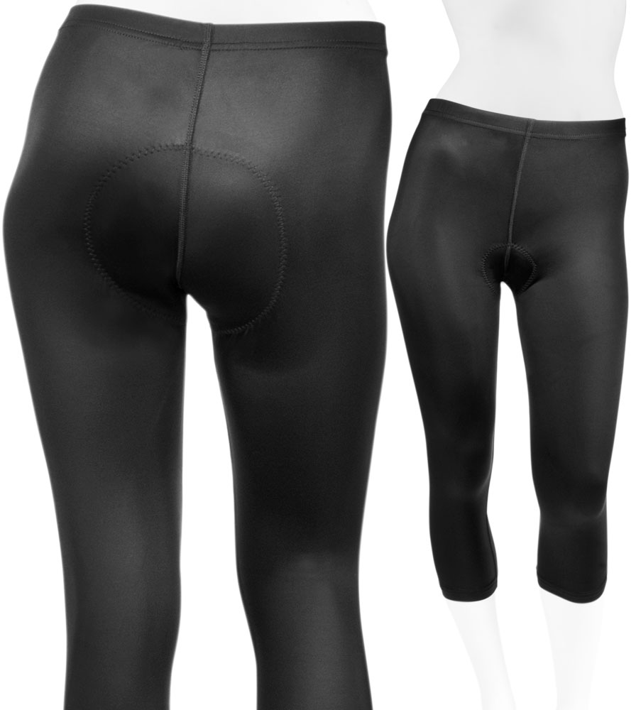 Aero Tech Women's Lycra Spandex PADDED Cycling Capri