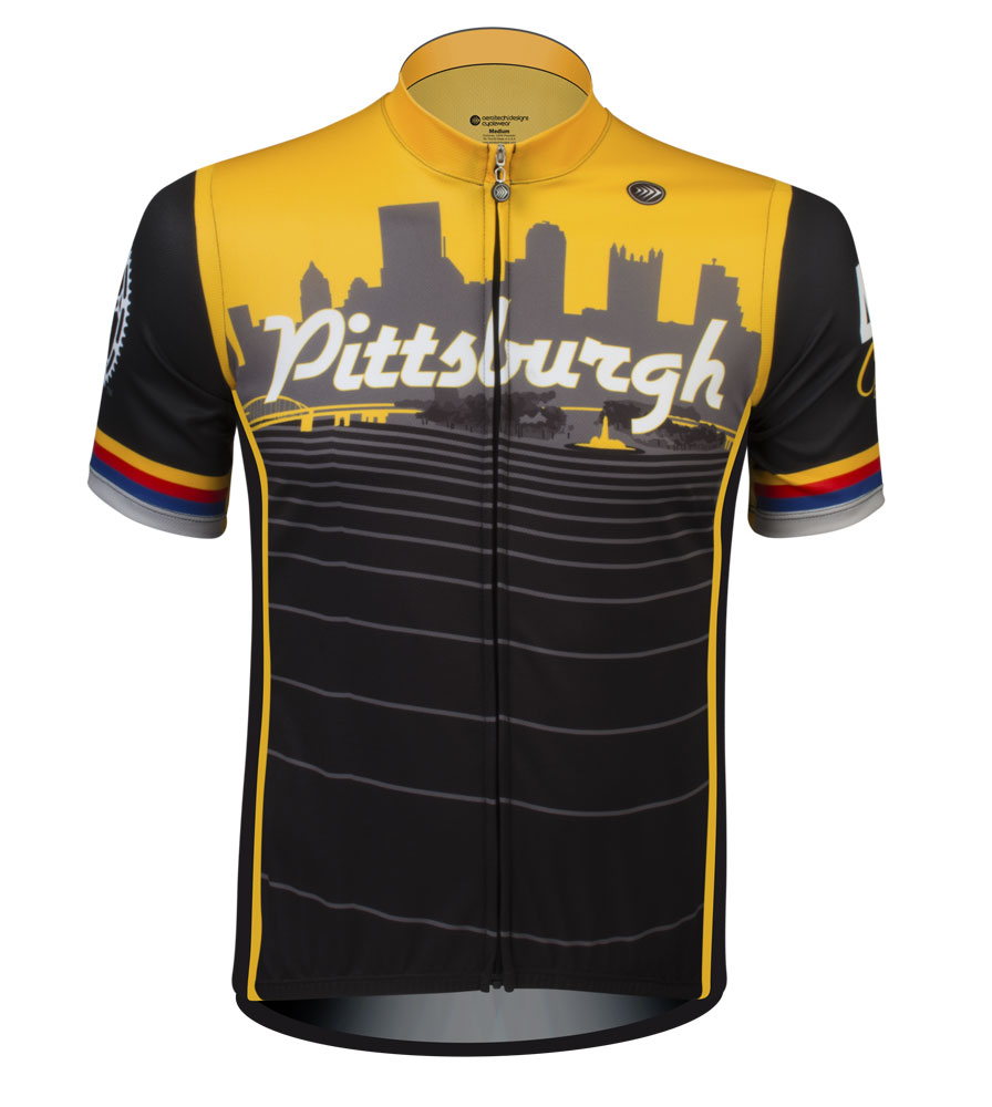 Aero Tech Sprint Jersey - Pittsburgh Themed - Bike Jersey Proudly Made In Pittsburgh