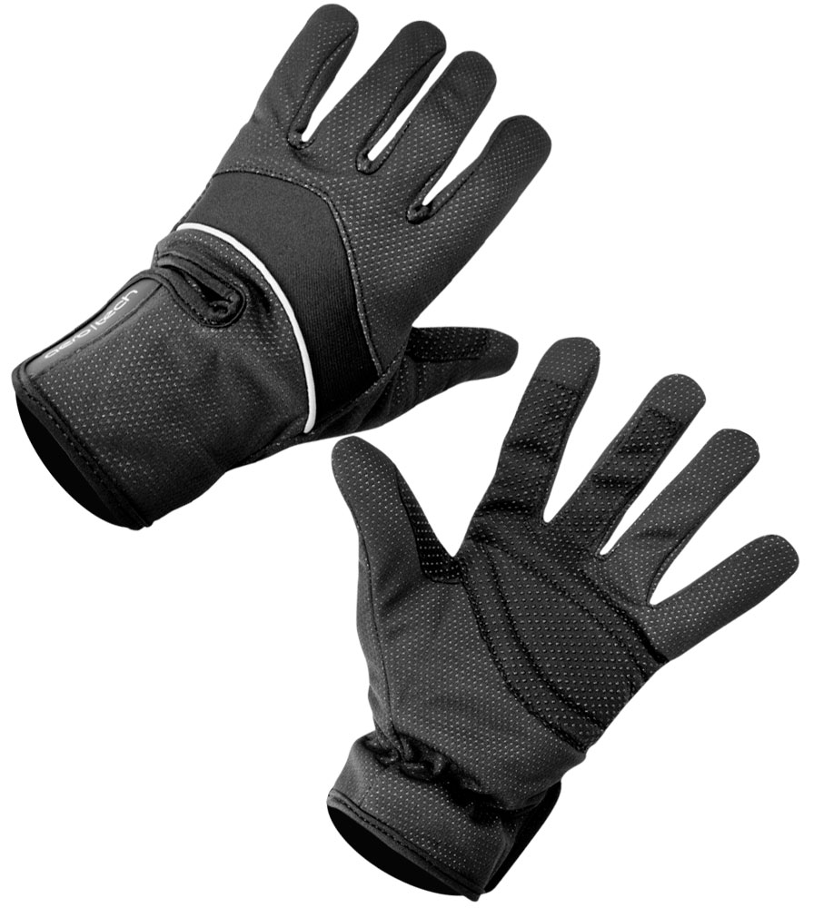 Aero Tech Black Windproof Thermal Full Finger Cycling Gloves
