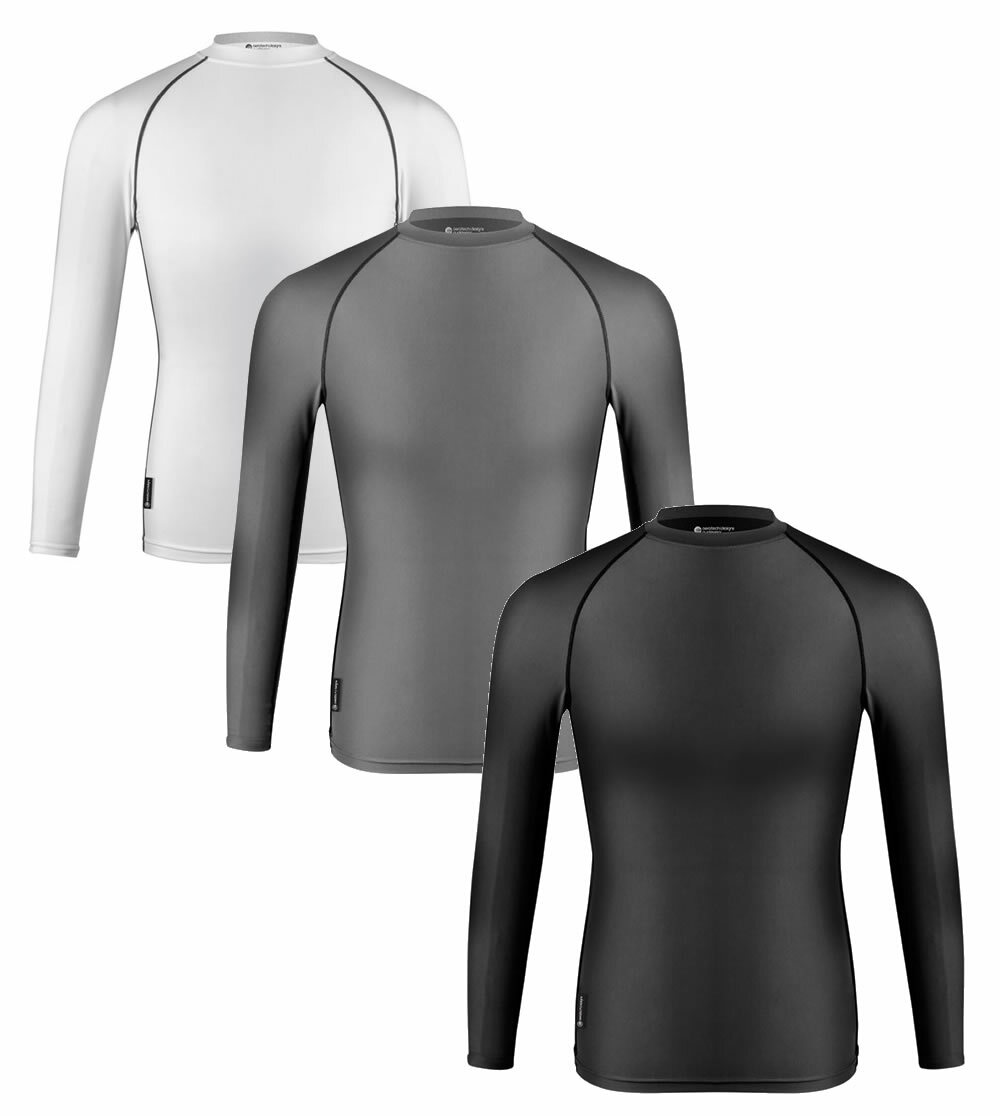 Aero Tech Compression Shirt - Long Sleeve Spandex Base Layer