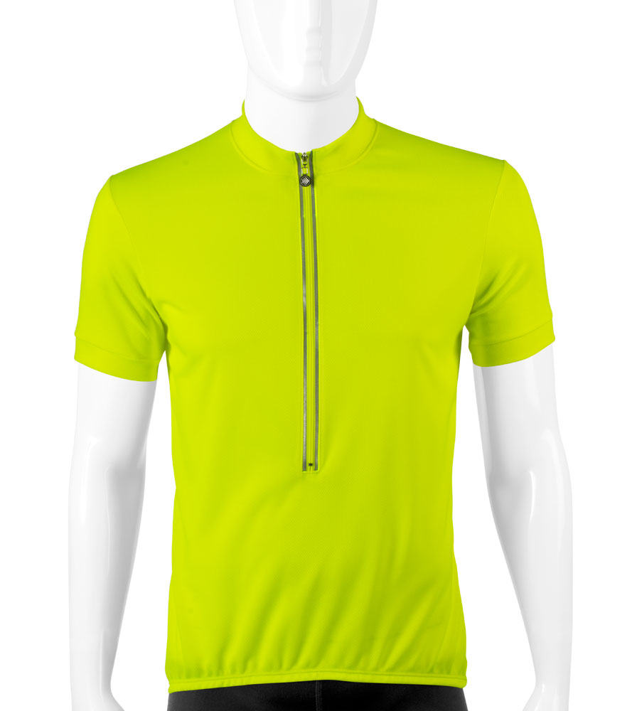 Aero Tech TALL Men's Cycling Jerseys High Vizibility Safety Yellow Questions & Answers