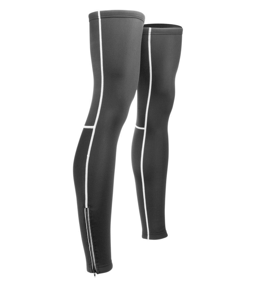 Could you please provide a sizing chart listing thigh and calf measurements for these leg warmers.