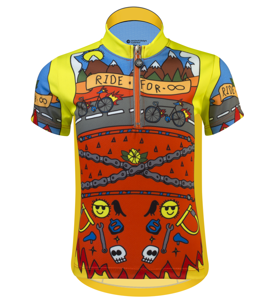 Aero Tech Youth Team Jersey - Ride for Infinity - Printed Cycling Jersey