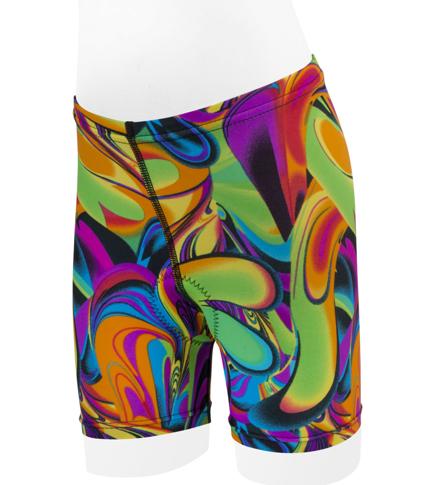 Aero Tech Youth Lava Lamp PADDED Cycle Shorts - Multi Colored - Made in USA Questions & Answers