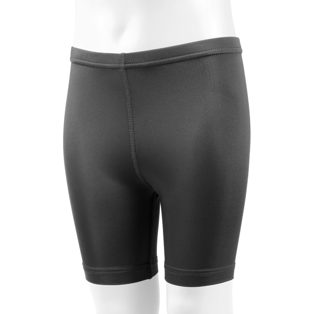 Aero Tech Youth Black Spandex Compression Exercise Short - UNPADDED