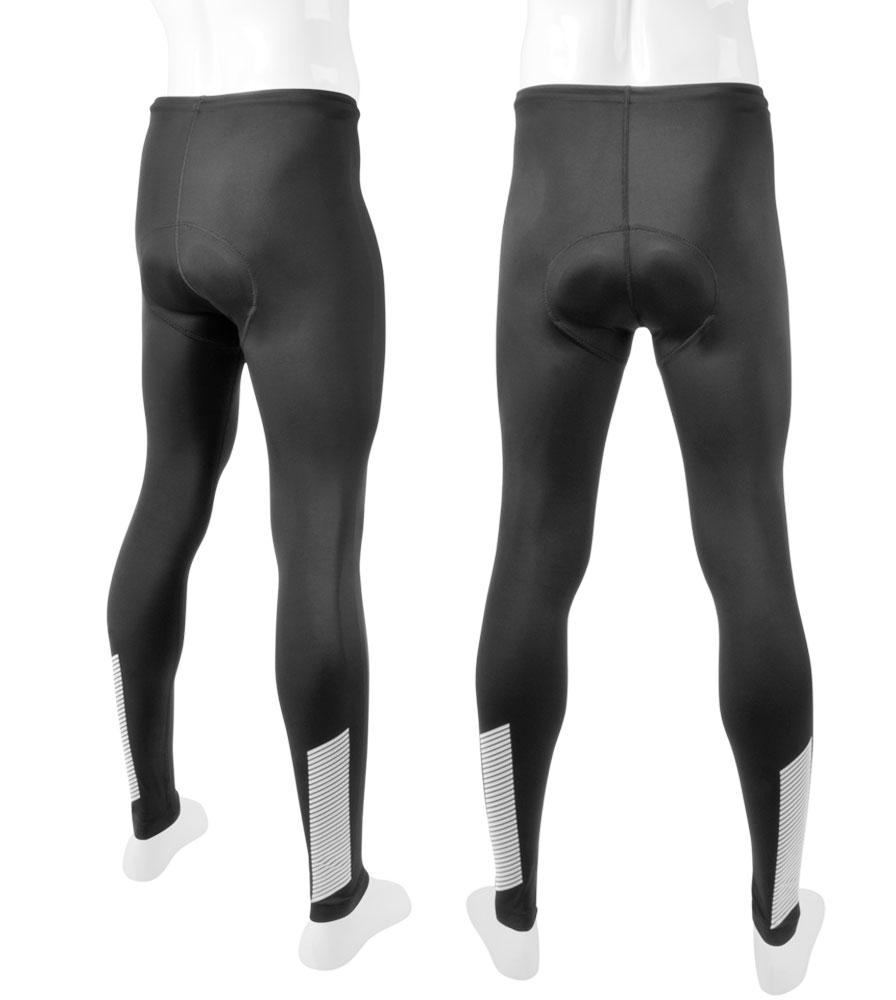 Aero Tech Men's 3M Scotchlite Reflective Slasher PADDED Cycling Tights w Elite Pad Questions & Answers