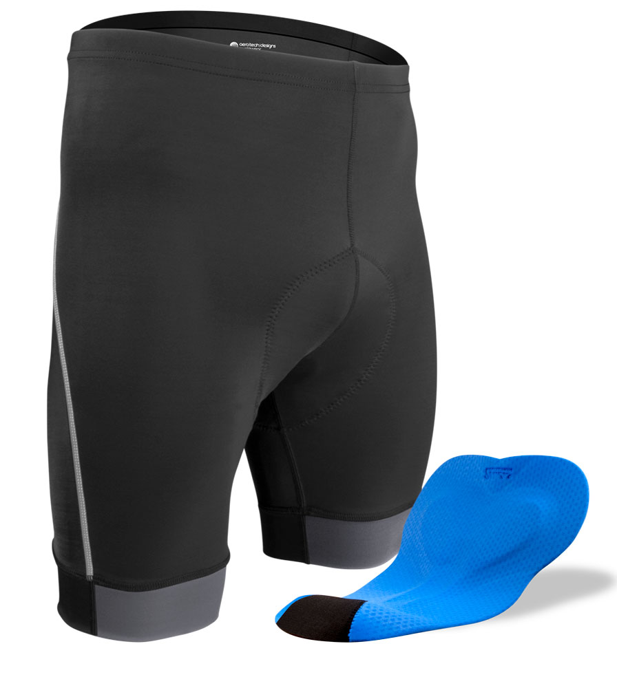 Aero Tech BIG Men's Clydesdale PADDED Bike Shorts - With Wide Chamois