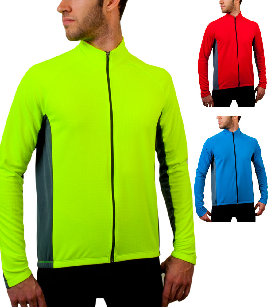Aero Tech BIG Men's Formaggio Long Sleeve Fleece Cycling Jersey