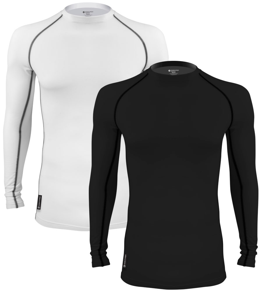 Aero Tech Long Sleeve Fleece Compression Shirt - Base Layer - Toasty Warm