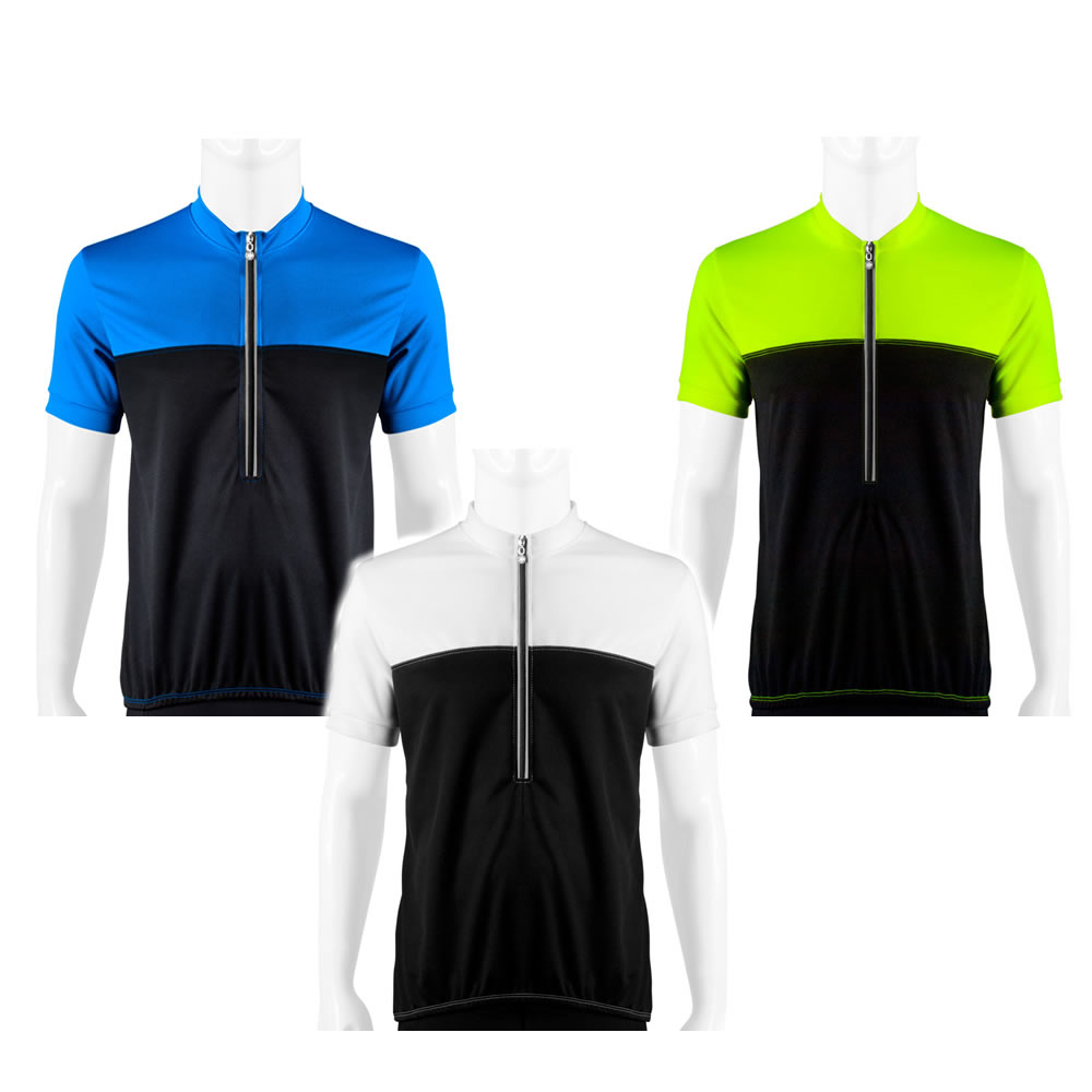 Aero Tech Men's Shadow Cycling Jersey Made in USA w Reflective Trims - SMALL