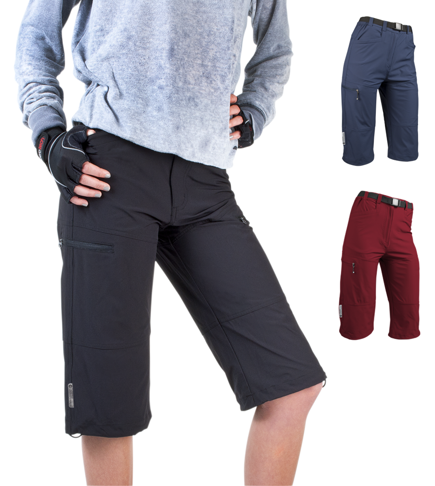 Aero Tech Women's Urban Pedal Pushers Knickers - Stretch Woven w Cargo Pockets Questions & Answers