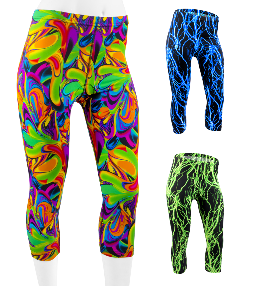 Aero Tech Women's PADDED Cycle Knickers - Wild Printed Spandex Questions & Answers