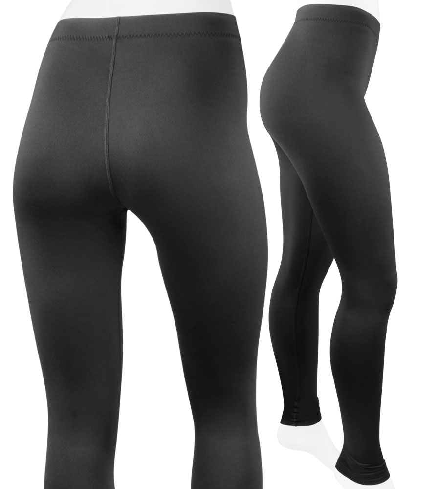Aero Tech Women's Stretch Fleece Legging UNPADDED Tights - Made in USA