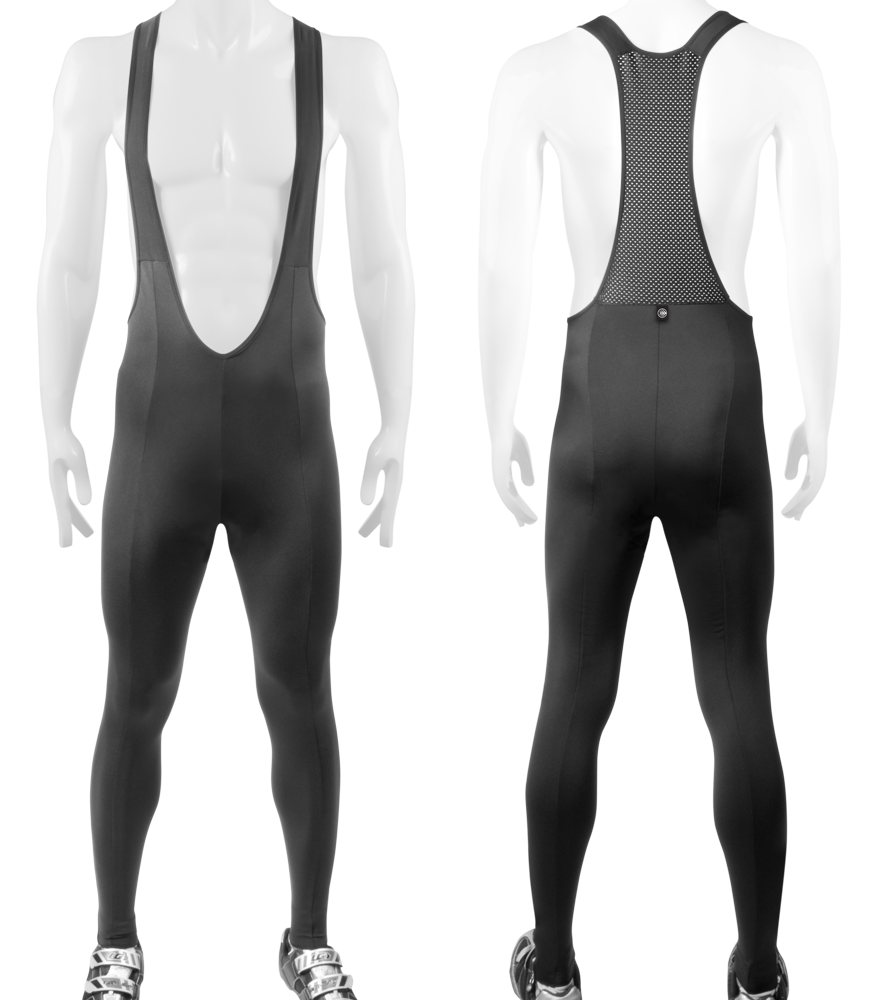 Aero Tech Men's Stretch Fleece Bib Tights - UNPADDED