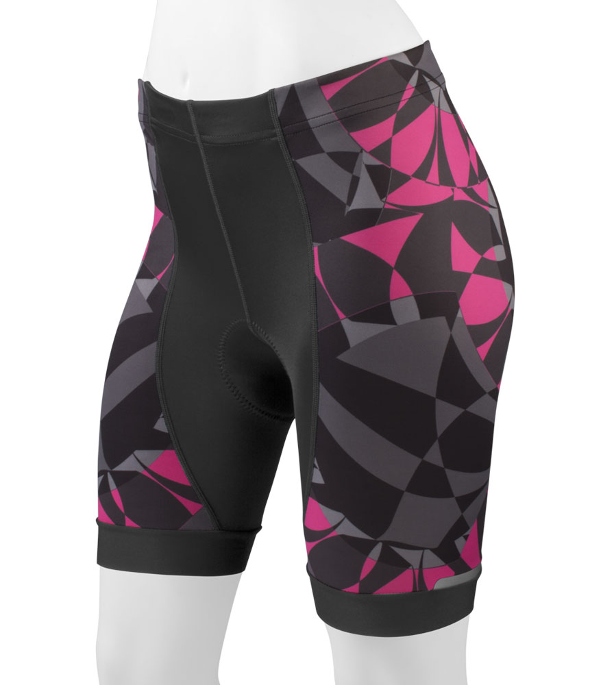 Aero Tech Women's Empress Shorts - Mosaic - PADDED Print Bicycle Shorts - Designer Cycling Short