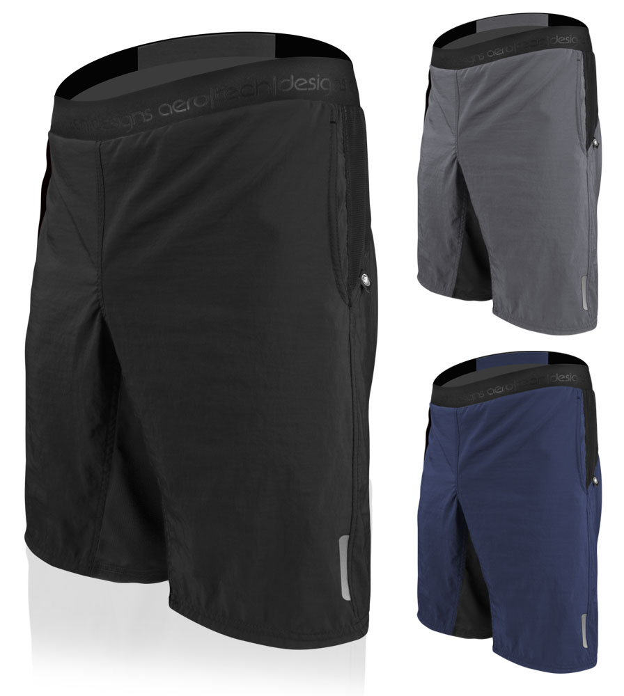 """Aero Tech Men's USA MTB PADDED Mountain Bike Shorts with 11"""" Inseam Questions & Answers"""