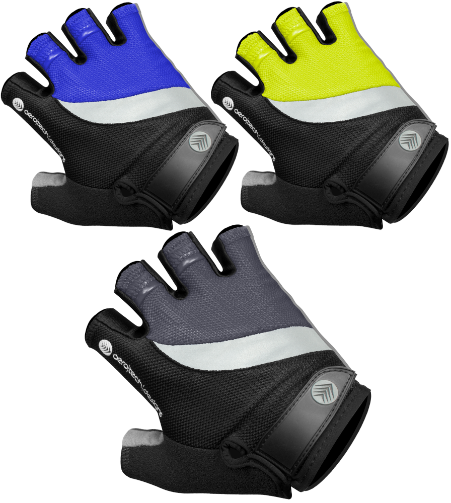 Aero Tech Lightweight Reflective - Gel Padded Cycling Gloves