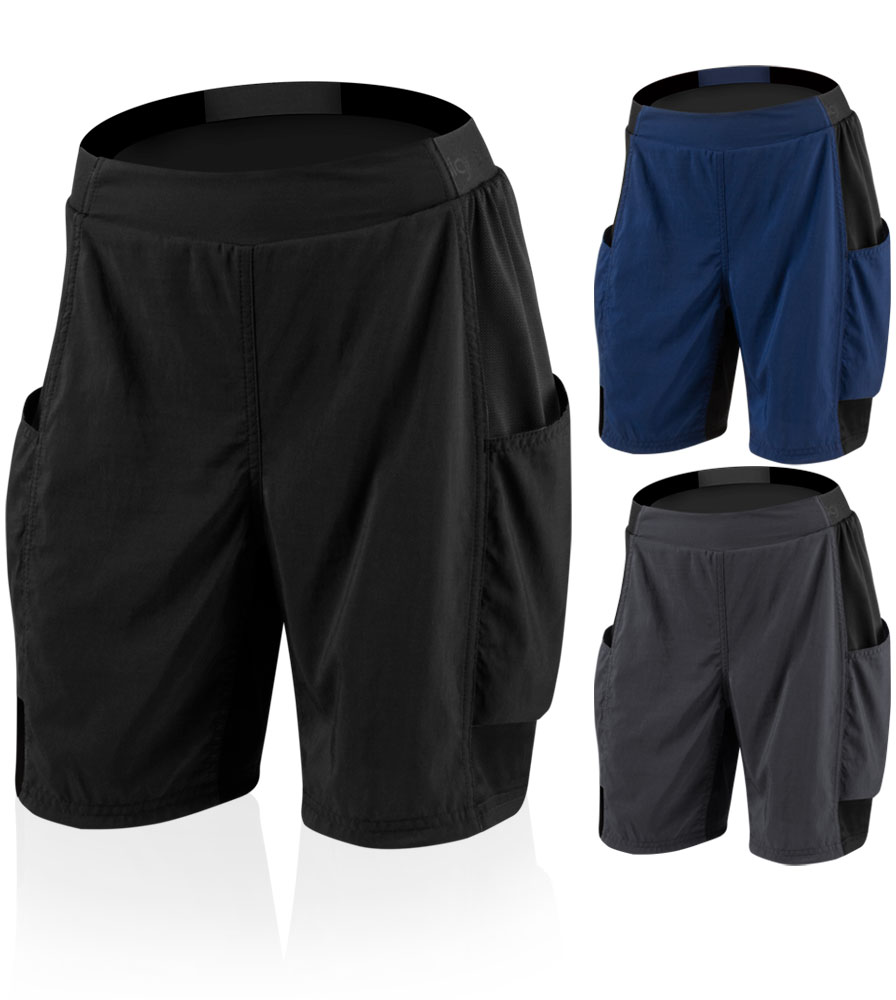 Aero Tech Women's USA MTB PADDED Cargo Short for Cycling