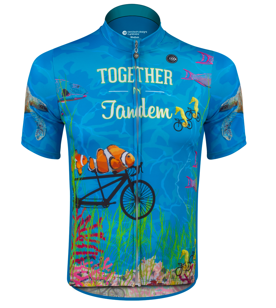 Aero Tech Together in Tandem Unisex Cycling Jersey