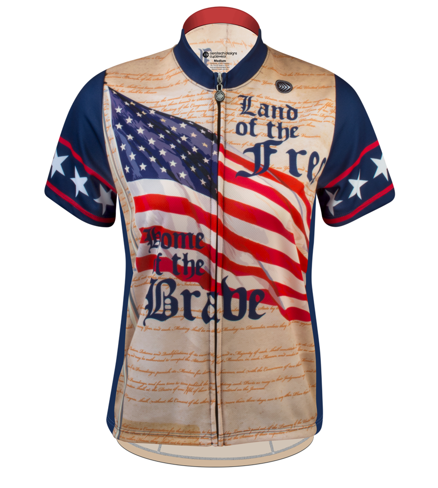 Aero Tech Women's Empress Jersey - Patriot - Land of the Free Cycling Jersey