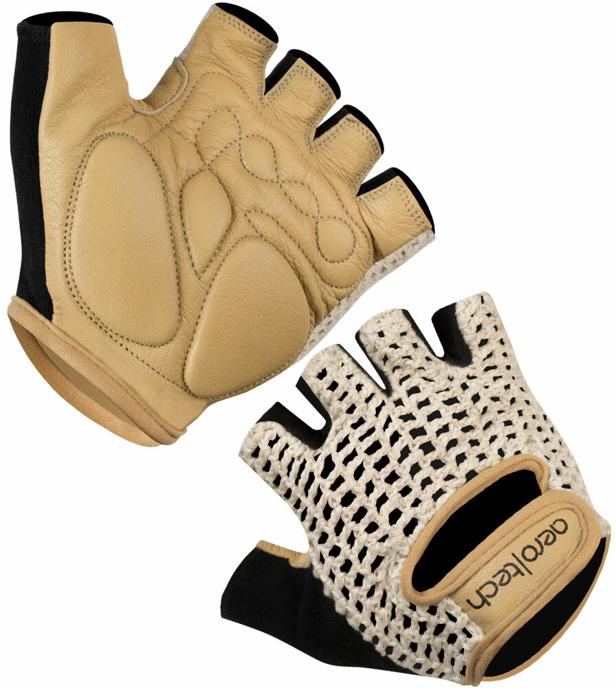 Aero Tech Cycling Gloves - Extra Thick Gel Padding Leather/Cotton New!
