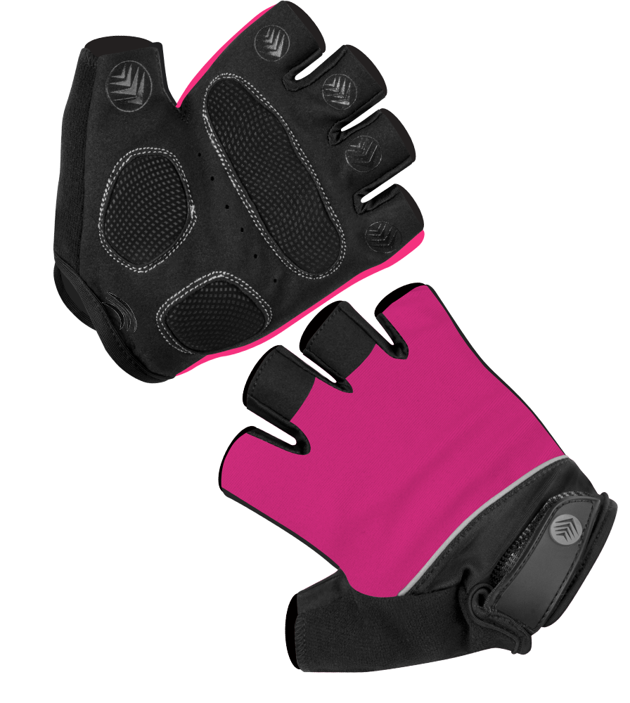 Aero Tech Pink Gel Padded Cycling Gloves - Fingerless Breathable Washable