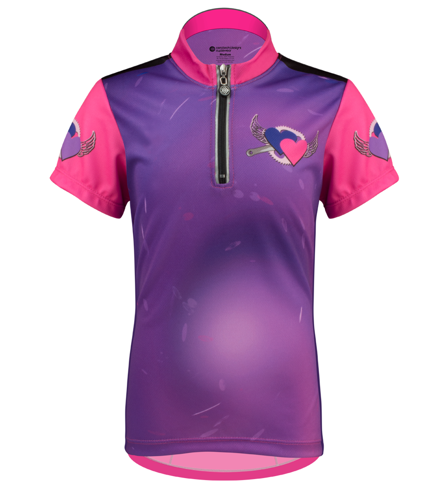 Aero Tech Youth Jersey - Flying Hearts Children's Cycling Jersey Questions & Answers