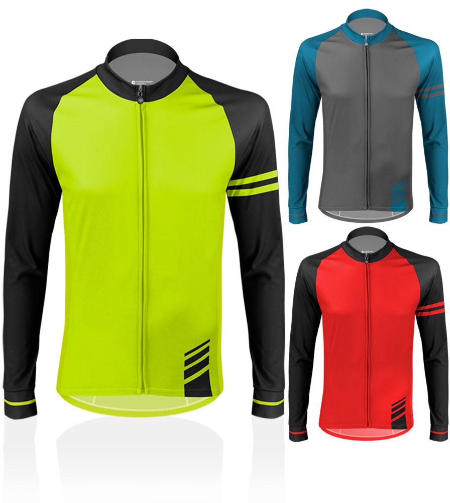 Aero Tech Long Sleeve Peloton Jersey - Classic Thermal - Brushed Fleece Bike Jersey
