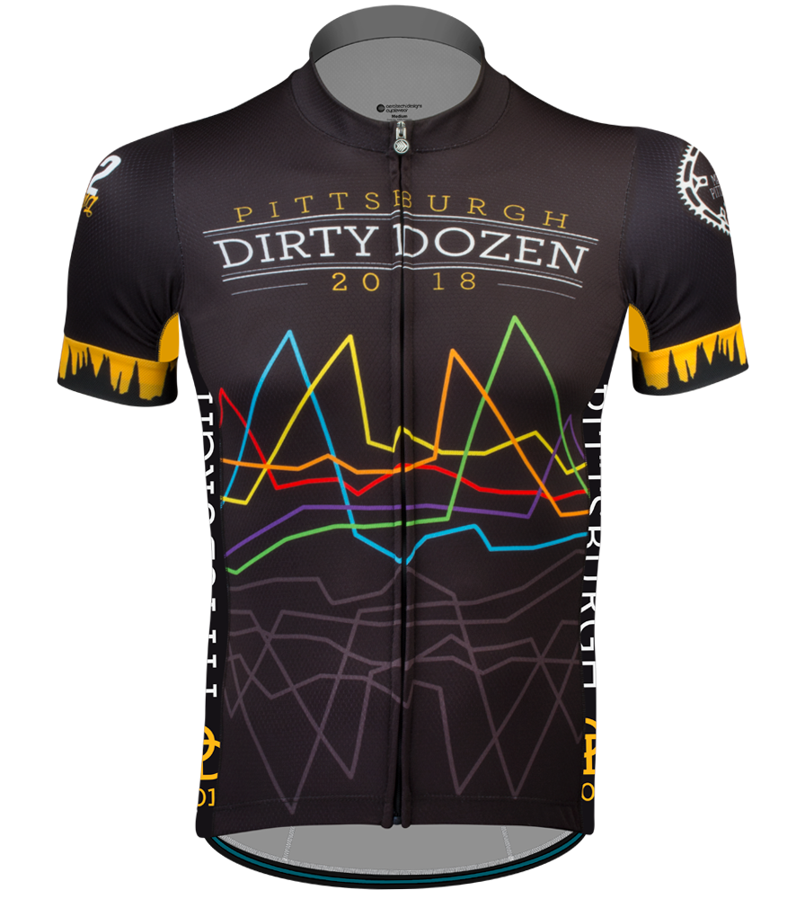 Aero Tech Men's Premiere Jersey - The Pittsburgh Dirty Dozen Official 2018 Cycling Jersey