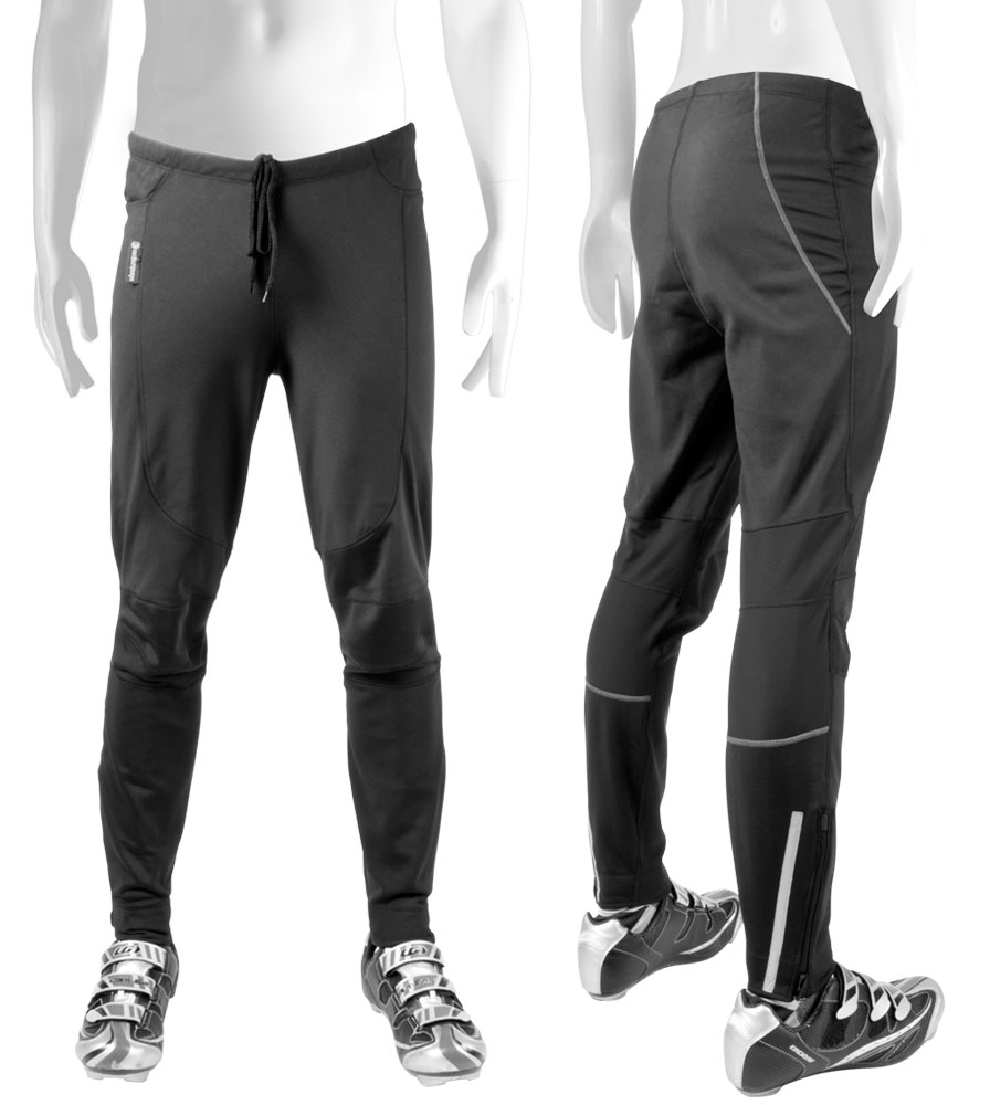 Aero Tech TALL Men's Thermal WindStopper Tights - Softshell Material for Cold Weather Riding