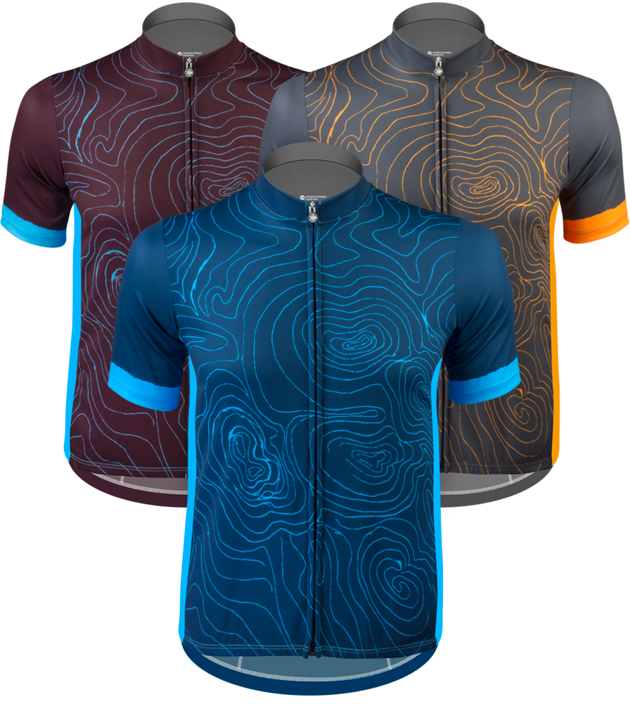 Aero Tech Sprint Jersey - Topo - Elevation Map Cycling Jersey in 3 Colors Questions & Answers