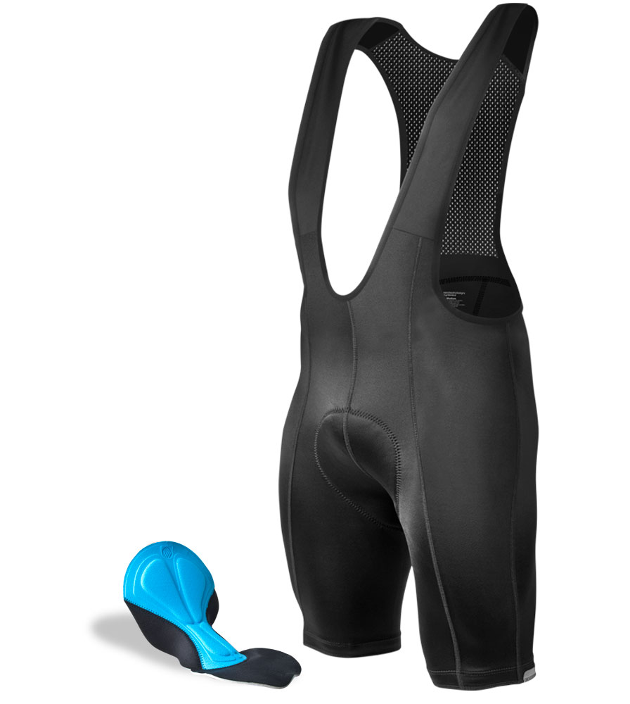 Aero Tech TALL Men's Cycling Bibs PADDED Bib Shorts - Made in USA
